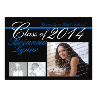 Class of 2014 Color Change Tri Photo Card