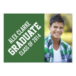 CLASS OF 2014 GRADUATE PARTY PHOTO 13 CM X 18 CM INVITATION CARD