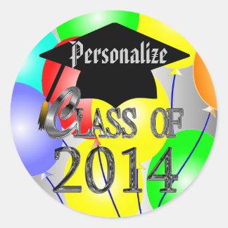 Class Of 2014 Graduation Balloons Stickers