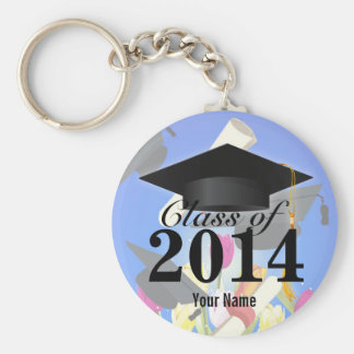 Class of 2014 Graduation Basic Round Button Key Ring