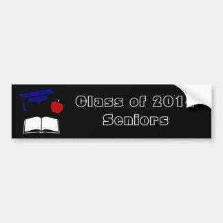 Class of 2014 Graduation Cap Book Apple Car Bumper Sticker