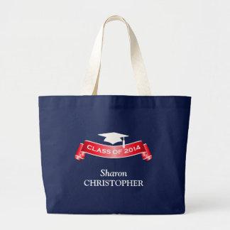 Class of 2014 Graduation Dark Jumbo Tote Bag
