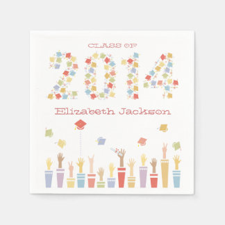 Class of 2014 Graduation Party Napkin Disposable Napkins