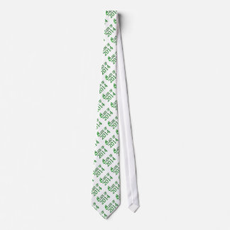 Class Of 2014 Green & White, Or Any Color Grad Tie