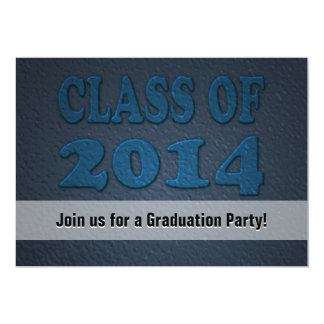 Class of 2014 Personalized Teal Graduation Party 13 Cm X 18 Cm Invitation Card