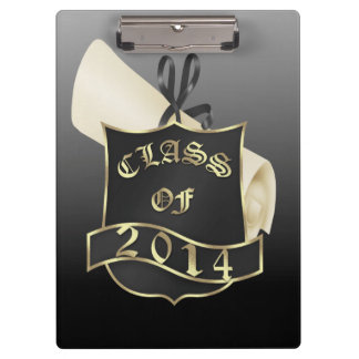 Class of 2014 Shield and Diploma Clipboard