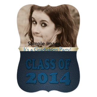 Class of 2014 Teal Graduation Party Photo Card