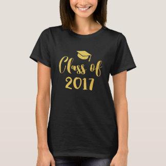 Class of 2017 Graduation Gold Calligraphy Script T-Shirt