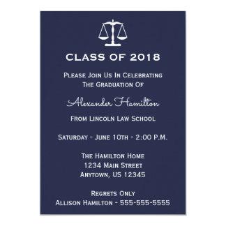 Class Of 2018 Scales Graduation Invite (Midnight)