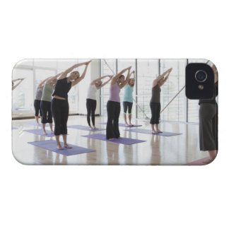 class practicing yoga with instructor in a 2 iPhone 4 case