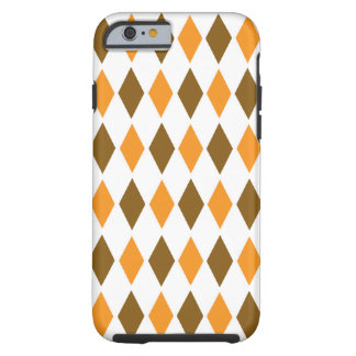 Class Retro iPhone 6, Vibe - Brown Orange Diamond Tough iPhone 6 Case