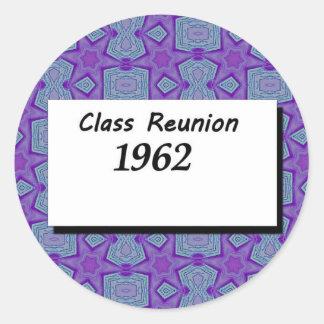 Class Reunion 1962 Classic Round Sticker