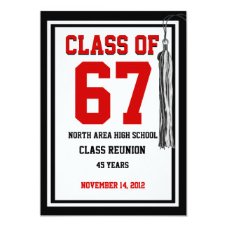 Class Reunion with changable colors Card