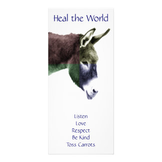 Class Rules Burro Make the World a Better Place 10 Cm X 23 Cm Rack Card