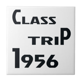Class Trip 1956 Small Square Tile