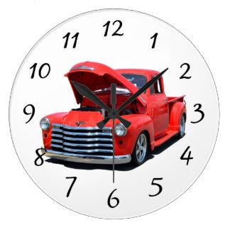 Classic 1950's Chevrolet Pickup Truck Large Clock