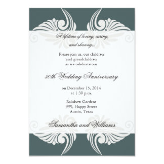 Classic 50th Wedding Anniversary Invitation