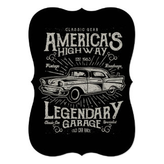 Classic American Muscle Car | Hotrod's Highway Card