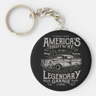 Classic American Muscle Car | Hotrod's Highway Key Ring