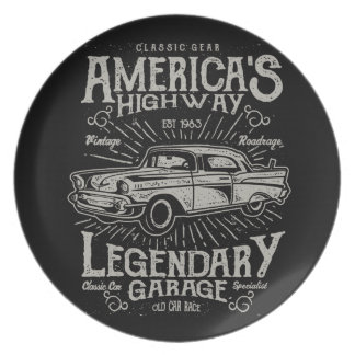Classic American Muscle Car | Hotrod's Highway Plate