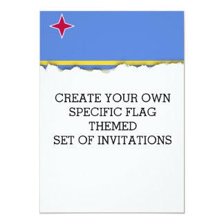 Classic Aruba Flag Card