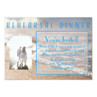 Classic Beach Rehearsal Dinner Wedding Invitation