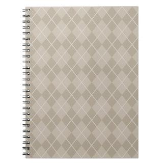 Classic Beige Argyle Notebook
