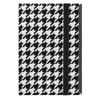 Classic Black and White Houndstooth iPad Mini Case