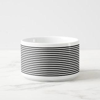 Classic Black and White Stripes Chili Bowl