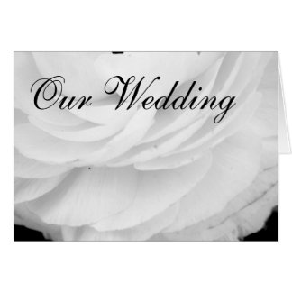 Classic Black and White Wedding Card