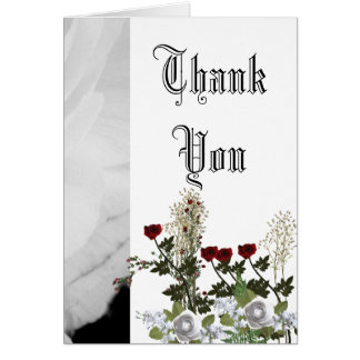 Classic Black and White Wedding Greeting Card