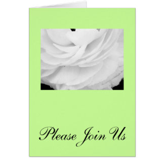 Classic Black and White Wedding Note Card