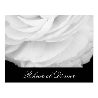 Classic Black and White Wedding Postcard