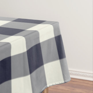 Classic Blue Gingham / Buffalo Check Tablecloth