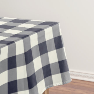 Classic Blue Gingham Pattern Check Tablecloth