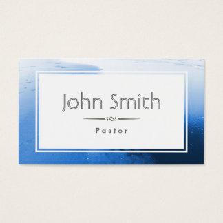 Classic Blue Ocean Pastor Business Card