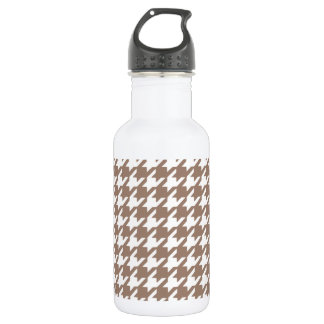 Classic Brown and White Houndstooth Pattern 532 Ml Water Bottle