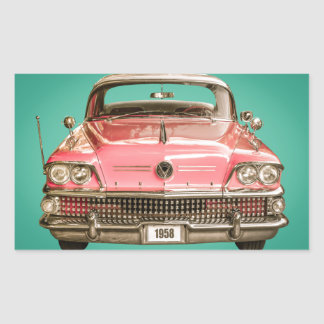 Classic Buick 1958 Century Car Rectangular Sticker