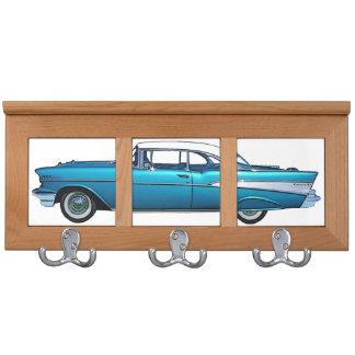 Classic car 1957 Chevy BelAire custom coatrack