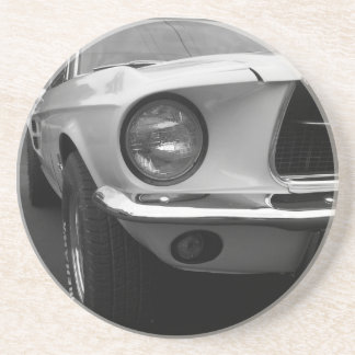 Classic Car Coming At You Beverage Coaster