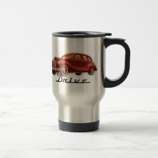 Classic Car Driver Vintage Retro Auto Stainless Steel Travel Mug