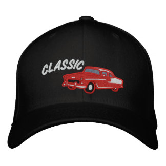 Classic Car Vintage 50s Style Embroidered Baseball Caps