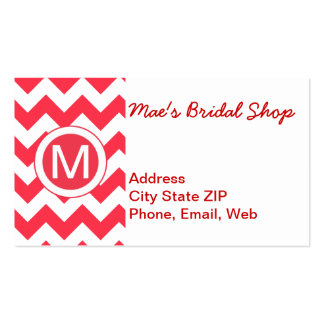 Classic Cherry Red Chevron Pattern Pack Of Standard Business Cards