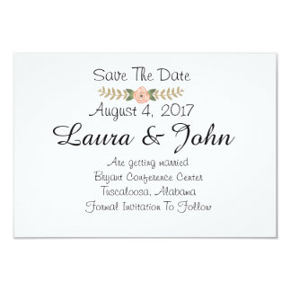 Classic Chic Save The Date Card