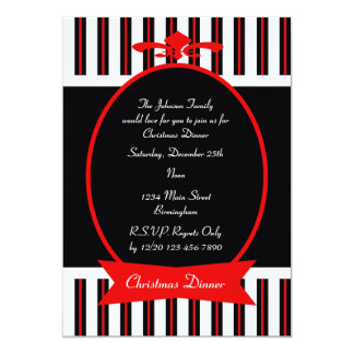 Classic Christmas Dinner Party Invitation