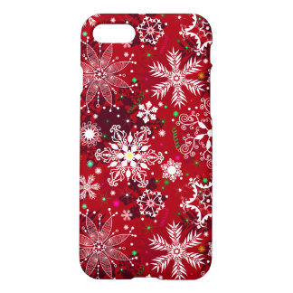 Classic Christmas Holiday Snowflake Pattern iPhone 7 Case