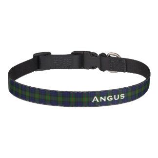 Classic Clan Gunn Tartan Plaid Custom Dog Collar