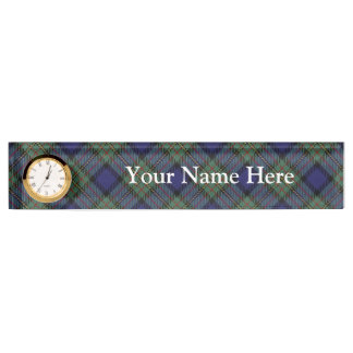 Classic Clan MacLaren Tartan Customize Name Desk Nameplates