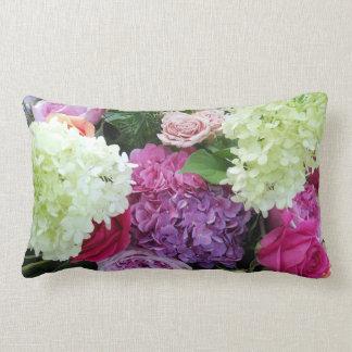 Classic Cottage Garden Flower Rose Hydrangea Peony Cushion