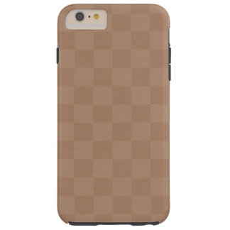 Classic Cream -Checkers- Custom Tough iPhone 6 Plus Case